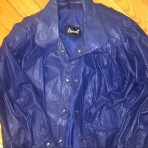 Vintage Avanti purple leather jacket